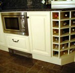 White Wine Storage Bespoke Kitchen Cupboard